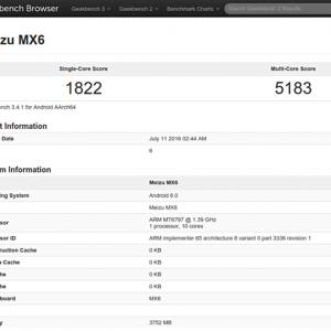 魅族MX6现身跑分网站:十核Helio X20